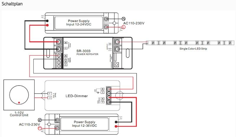1 kanal led verst rker sr 3003 1 zone amplifier 12 24v. Black Bedroom Furniture Sets. Home Design Ideas