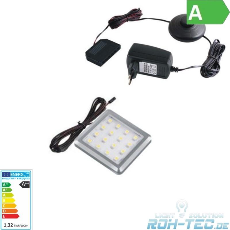1-6-Stueck-eckige-Slim-LED-Aufbau-Moebelleuchte-SQUARE-LED-Trafo-Druckschalter