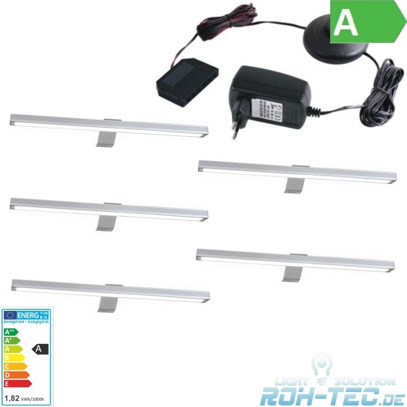 1-6x-LED-Stab-Leuchte-Moebelleuchte-034-ALU-034-Schrankleuchte-Komplettset